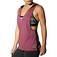 Womens Reebok RNF Hooded Sleeveless & Tank Technical Tops