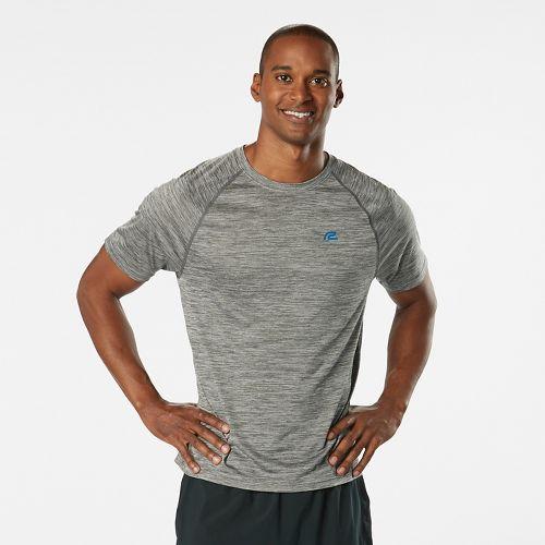 Mens Road Runner Sports Go-To Raglan Short Sleeve Technical Tops - Heather Chrome S