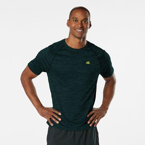 Mens Road Runner Sports Go-To Raglan Short Sleeve Technical Tops - Heather Deep Teal XL ...
