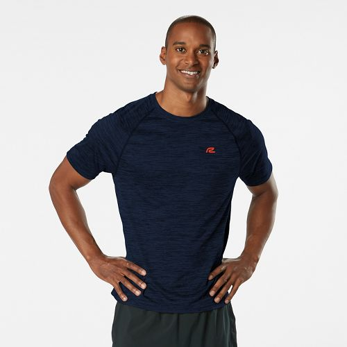Mens R-Gear Go-To Raglan Short Sleeve Technical Tops - Heather Cobalt S