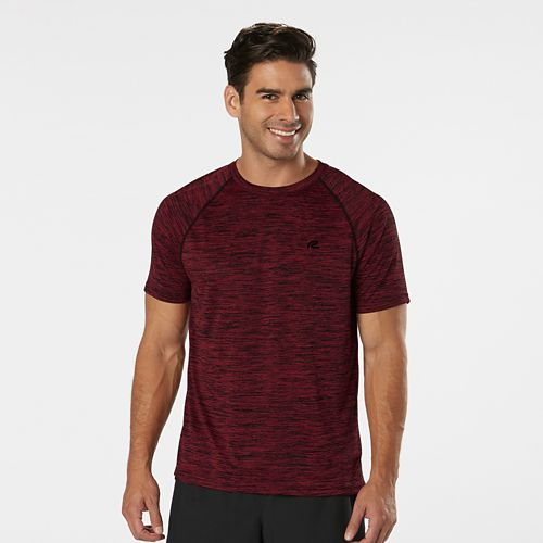 Mens R-Gear Go-To Raglan Short Sleeve Technical Tops - Heather Run Burgundy XXL