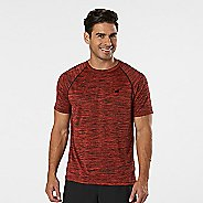 Mens R-Gear Go-To Raglan Short Sleeve Technical Tops - Heather Blaze S