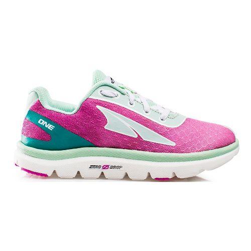 Kids Altra One Jr. Running Shoe - Fuchsia/Mint 4.5Y