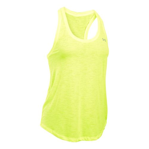 Womens Under Armour Tech Slub Flowy Sleeveless & Tank Technical Tops - X-Ray M