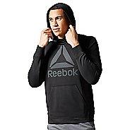 Mens Reebok Workout Ready Warm Poly Fleece Over the Head Half-Zips & Hoodies Technical Tops