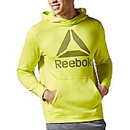 Mens Reebok Workout Ready Warm Poly Fleece Over the Head Half-Zips & Hoodies Technical Tops
