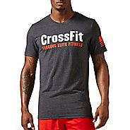 Mens Reebok Crossfit Forging Elite Fitness Tee Short Sleeve Technical Tops