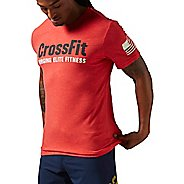 Mens Reebok Crossfit Forging Elite Fitness Tee Short Sleeve Technical Tops