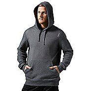 Mens Reebok Elements Quilted Pullover Half-Zips & Hoodies Technical Tops