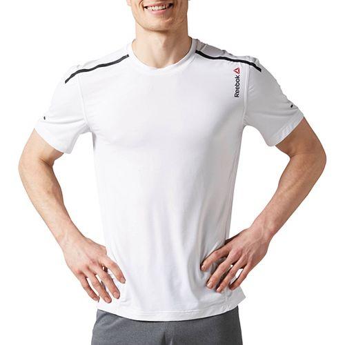 Mens Reebok One Series ACTIVChill Bonded Short Sleeve Technical Tops - White M