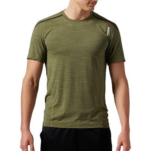 Mens Reebok One Series ACTIVChill Bonded Short Sleeve Technical Tops - Canopy Green S
