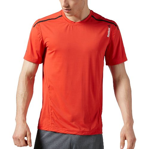 Mens Reebok One Series ACTIVChill Bonded Short Sleeve Technical Tops - Red XL