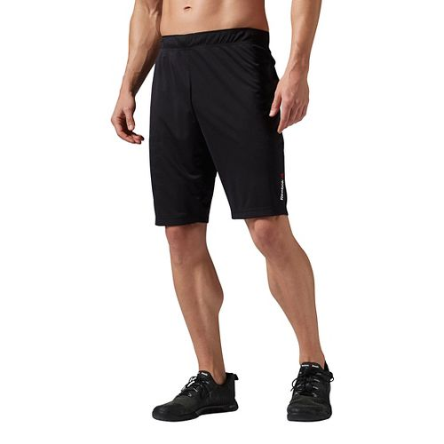 Mens Reebok ONE Series Antimicrobial Knit Unlined Shorts - Black L