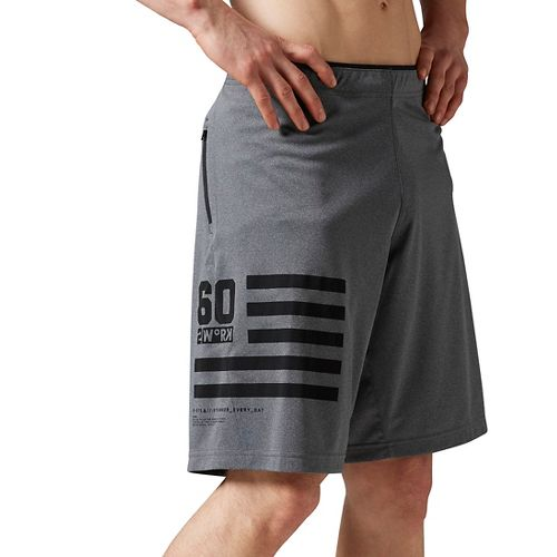 Mens Reebok ONE Series Antimicrobial Knit Unlined Shorts - Gravel XL