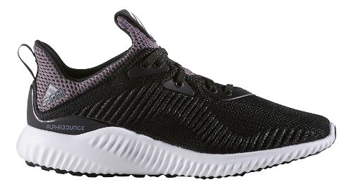 Kids adidas AlphaBounce J Running Shoe - Black/White 7Y