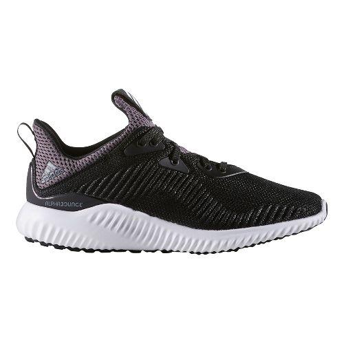 Kids adidas AlphaBounce J Running Shoe - Black/White 4Y