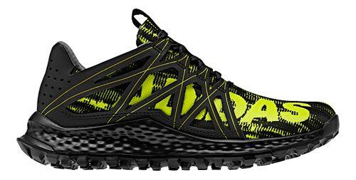 Kids adidas Vigor Bounce J Running Shoe - Black/Yellow 3.5Y