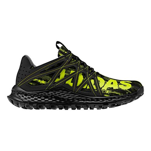 Kids adidas Vigor Bounce J Running Shoe - Black/Yellow 3.5Y