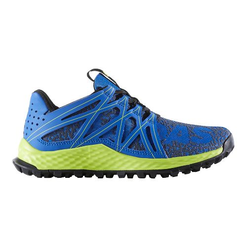 Kids adidas Vigor Bounce J Running Shoe - Blue/Yellow 6.5Y
