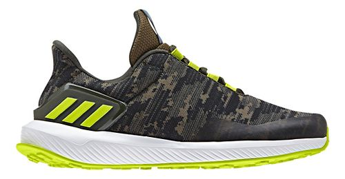Kids adidas Rapidarun Uncaged K Running Shoe - Black/Olive 11C