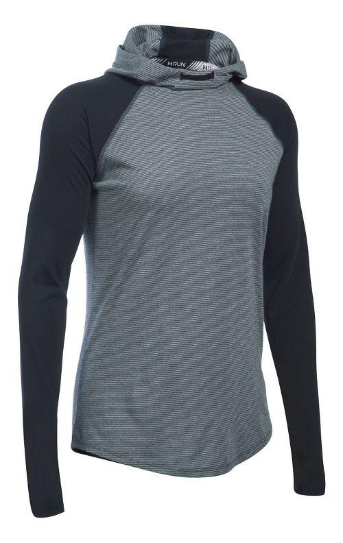 Womens Under Armour Streaker Hoodie & Sweatshirts Technical Tops - Black M