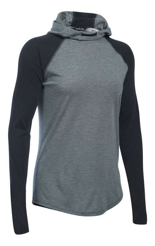 Womens Under Armour Streaker Hoodie & Sweatshirts Technical Tops - Black XS