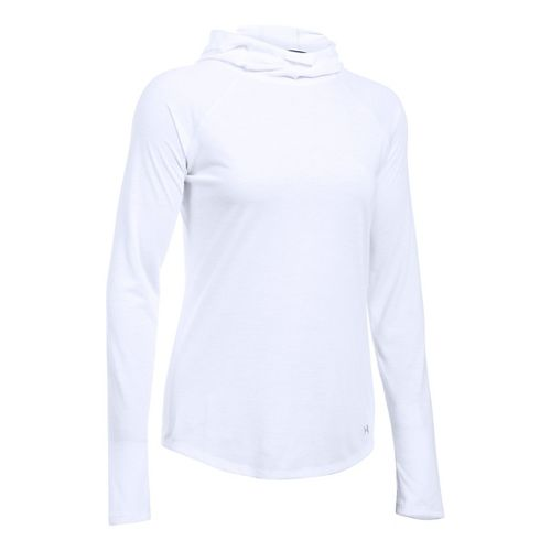 Womens Under Armour Streaker Hoodie & Sweatshirts Technical Tops - White XS