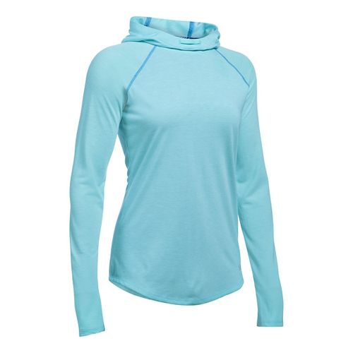 Womens Under Armour Streaker Hoodie & Sweatshirts Technical Tops - Maui M