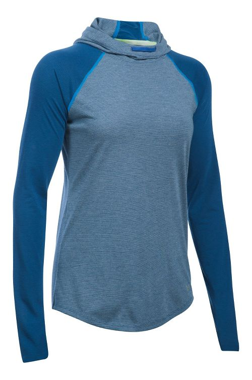 Womens Under Armour Streaker Hoodie & Sweatshirts Technical Tops - Heron XL