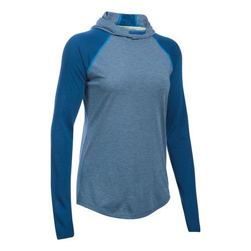 Womens Under Armour Streaker Hoodie & Sweatshirts Technical Tops - Heron L