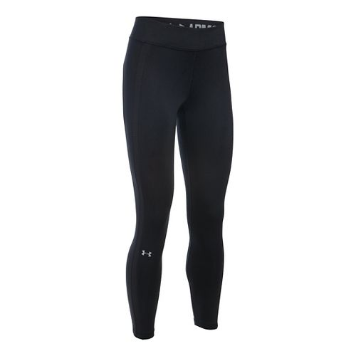 Womens Under Armour ColdGear Ankle Crop Tights & Leggings Pants - Black/Black MR