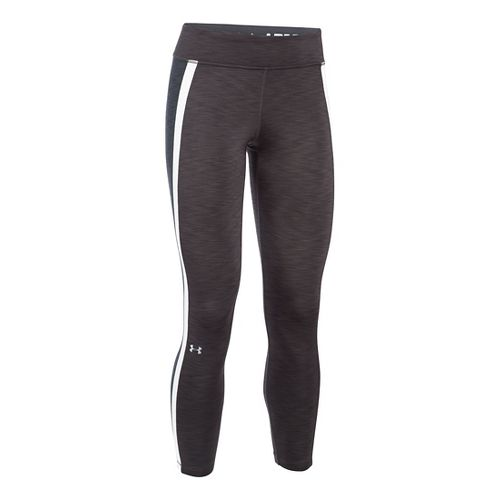 Womens Under Armour ColdGear Ankle Crop Tights & Leggings Pants - Carbon Heather/Grey LR