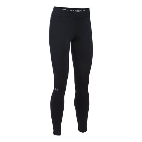 Womens Under Armour ColdGear Elements Tights & Leggings Pants - Black XLR