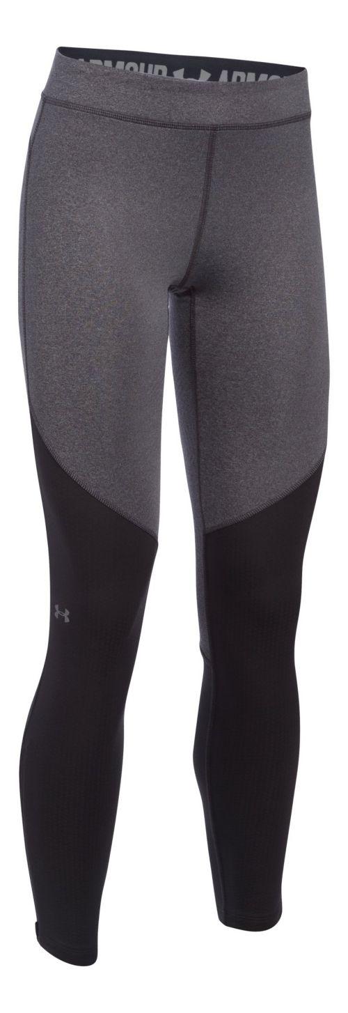Womens Under Armour ColdGear Elements Tights & Leggings Pants - Carbon Heather LR