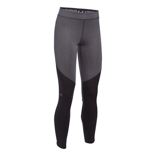 Womens Under Armour ColdGear Elements Tights & Leggings Pants - Carbon Heather SR