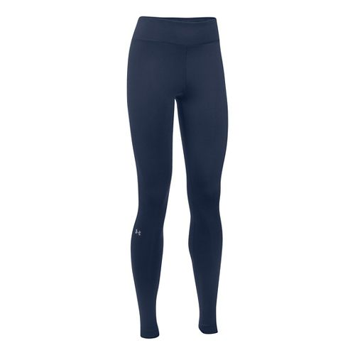 Womens Under Armour ColdGear Authentics Tights & Leggings Pants - Midnight Navy XLR