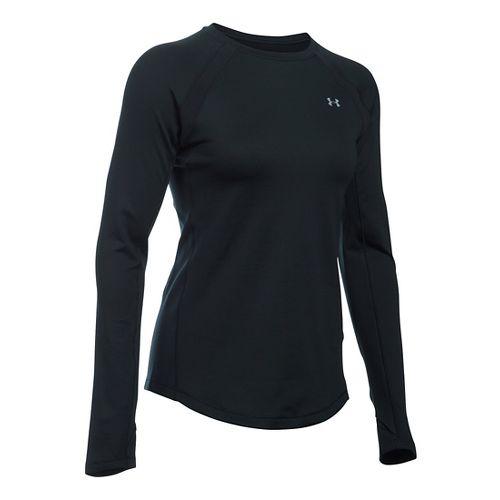 Womens Under Armour ColdGear Armour Crew Long Sleeve Technical Tops - Black XL