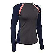 Womens Under Armour ColdGear Crew Long Sleeve Technical Tops