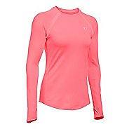 Womens Under Armour ColdGear Armour Crew Long Sleeve Technical Tops