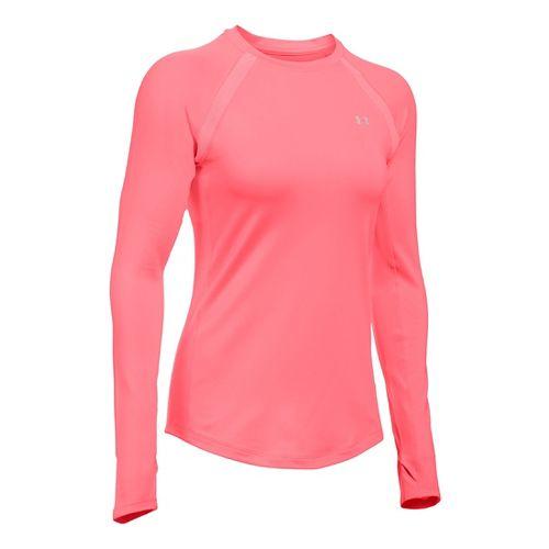 Womens Under Armour ColdGear Armour Crew Long Sleeve Technical Tops - Brilliance XL