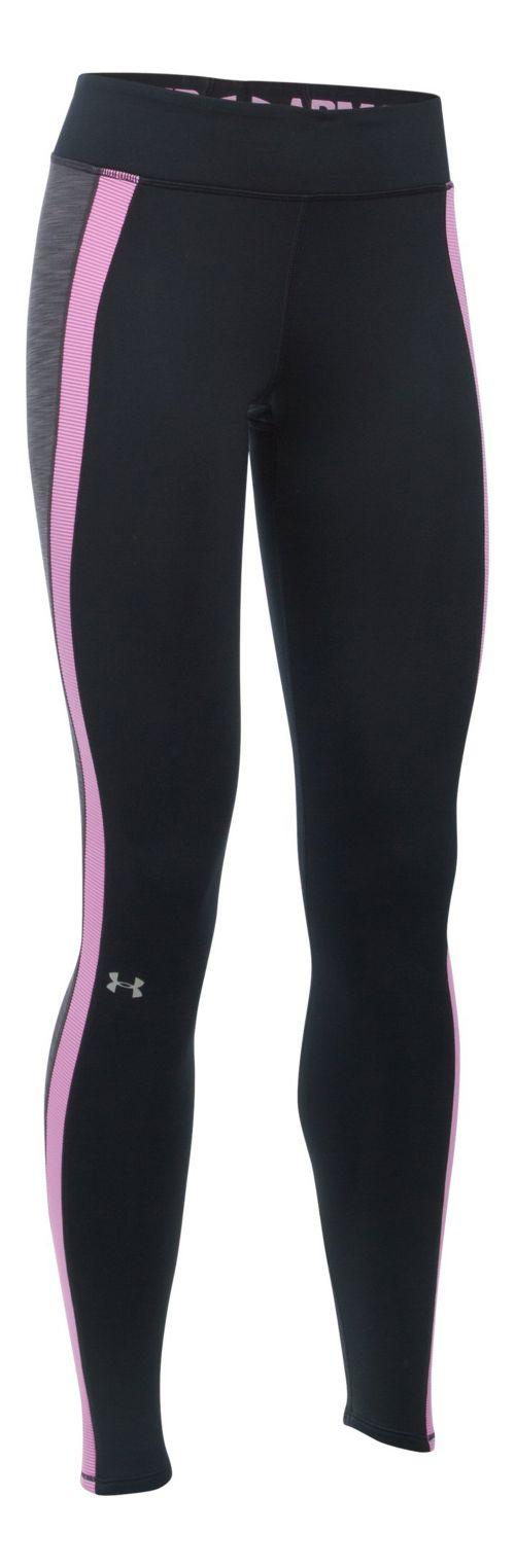 Womens Under Armour ColdGear Armour Tights & Leggings Pants - Black/Carbon L