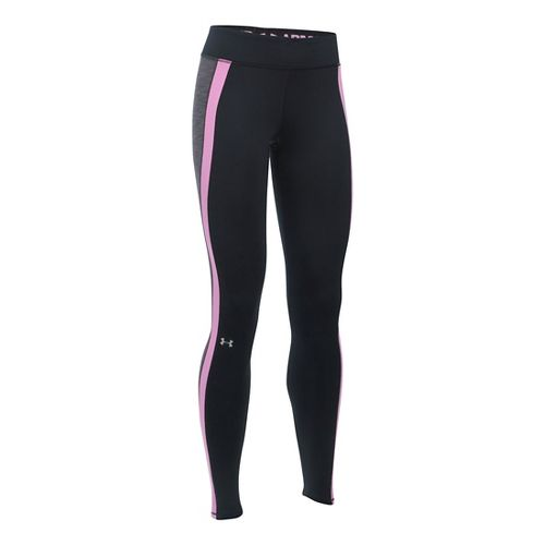 Womens Under Armour ColdGear Armour Tights & Leggings Pants - Black/Carbon XS-T