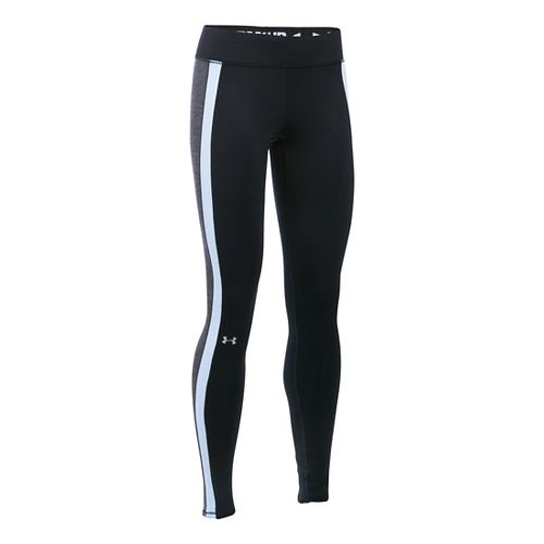 Womens Under Armour ColdGear Armour Tights & Leggings Pants - Black/Carbon Heather XXL-S