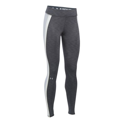 Womens Under Armour ColdGear Tights & Leggings Pants - Carbon Heather XLR