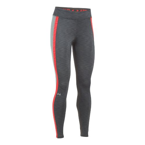 Womens Under Armour ColdGear Armour Tights & Leggings Pants - Heather/Grey XXL-S