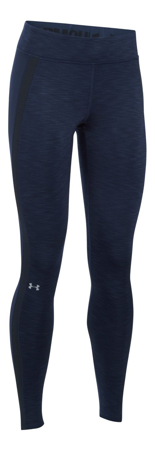 Womens Under Armour ColdGear Armour Tights & Leggings Pants - Midnight Navy S
