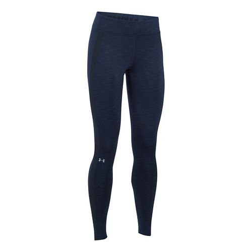 Womens Under Armour ColdGear Tights & Leggings Pants - Midnight Navy XSR