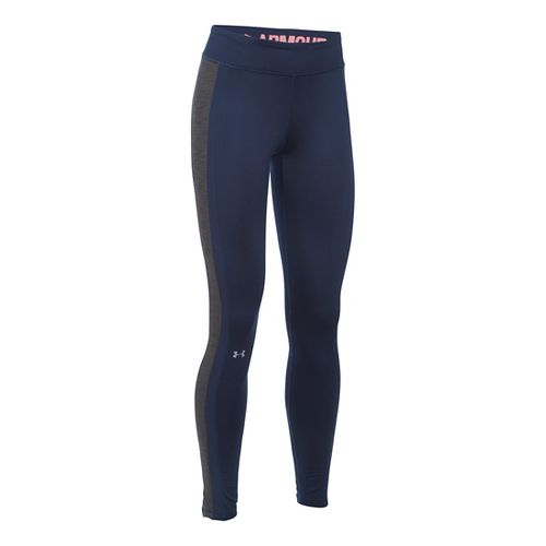 Womens Under Armour ColdGear Armour Tights & Leggings Pants - Midnight Navy/Carbon XL