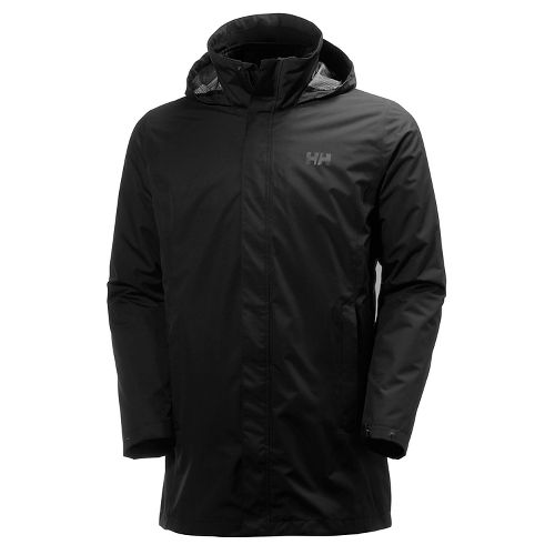 Mens Helly Hansen Mercer CIS Coat Cold Weather Jackets - Black L