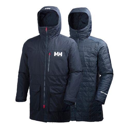 Mens Helly Hansen Rigging Coat Cold Weather Jackets - Navy L